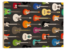 Holzbild  Gitarren-Muster - Kidz Collection