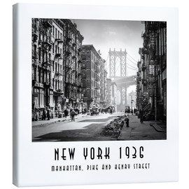 Leinwandbild  Historisches New York, Pike and Henry Street - Christian Müringer