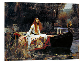 Acrylglas  Die Dame von Shalott - John William Waterhouse