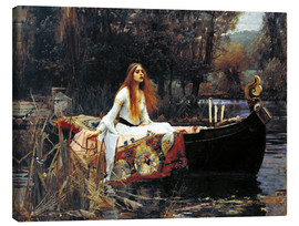 Leinwandbild  Die Dame von Shalott - John William Waterhouse