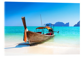 Acrylglas  Holzboot in Thailand