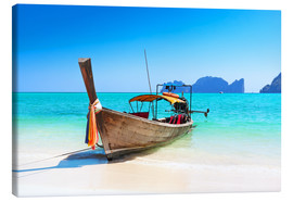 Holzboot in Thailand