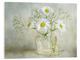 Acrylglasbild  Still life with Chrysanthemums - Mandy Disher