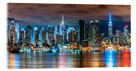 Acrylglasbild  New York Skyline by Night - Sascha Kilmer