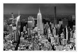 Premium-Poster New York, Midtown Manhattan mit Empire State Building