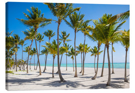 Leinwandbild  Juanillo Beach, Cap Cana, Punta Cana, Dominican Republic, West Indies, Caribbean, Central America - Jane Sweeney