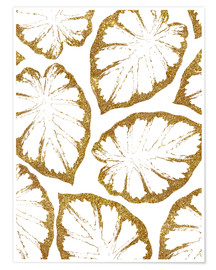 Poster Monstera Gold