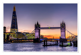 Charles Bowman - The Shard with Tower Bridge and River Thames