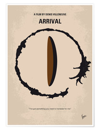 Poster No735 My Arrival minimal movie poster