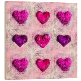 Holzbild  Pink Passion - Andrea Haase