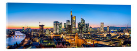 Acrylglasbild  Skyline Panorama von Frankfurt am Main - Jan Christopher Becke