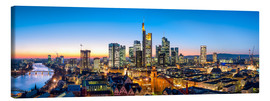 Leinwandbild  Skyline Panorama von Frankfurt am Main - Jan Christopher Becke