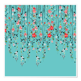 Premium-Poster Floral Wall
