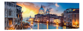 Hartschaumbild  Canal Grande Panorama in Venedig, Italien - Jan Christopher Becke