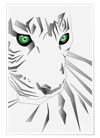 Premium-Poster Polygon Tiger