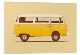 Hartschaumbild  Yellow Van - Florent Bodart