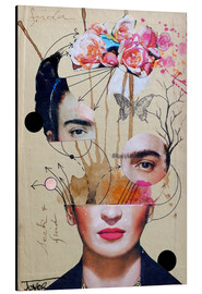 Alu-Dibond  frida for beginners - Loui Jover