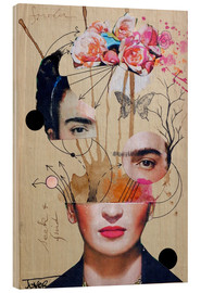 Holzbild  frida for beginners - Loui Jover