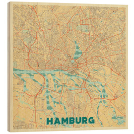 Hubert Roguski - Hamburg, Deutschland Karte Retro