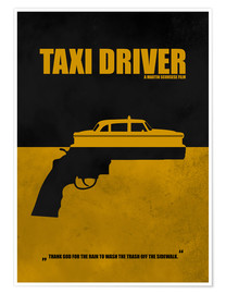 Premium-Poster Taxi Driver - Minimal Alternative Film TV