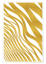 Premium-Poster Golden Wave