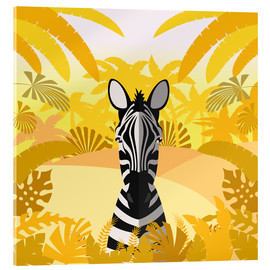Acrylglasbild  Lebensraum des Zebras - Kidz Collection