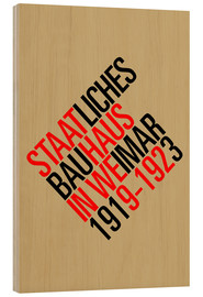 Holzbild  STAATLICHES BAUHAUS (VINTAGE) - THE USUAL DESIGNERS