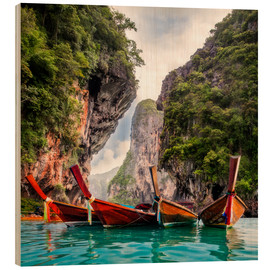 Holzbild  Railay Strand in Krabi Thailand