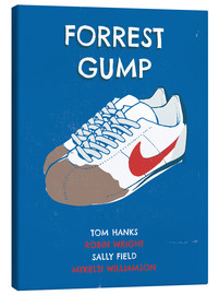 Leinwandbild  alternative forrest gump sneakers art - 2ToastDesign