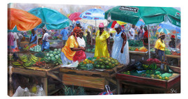 Leinwandbild  Markt in Castries, St. Lucia - Jonathan Guy-Gladding