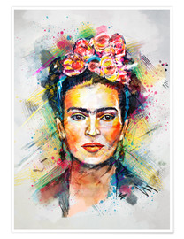 Premium-Poster  Frida Flower Pop - Tracie Andrews