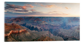Acrylglas  Panorama-Sonnenaufgang von Grand Canyon, Arizona, USA - Matteo Colombo