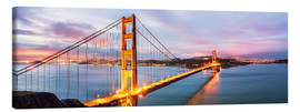 Leinwandbild  Panoramic von Golden Gate Bridge, San Francisco, USA - Matteo Colombo