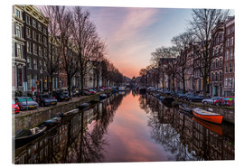 Acrylglasbild  Amsterdam Canals bei Sonnenaufgang - Mike Clegg Photography