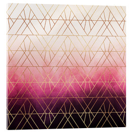 Elisabeth Fredriksson - Pink Ombre Triangles