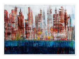 Premium-Poster New York Skyline, abstrakt