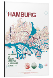 campus graphics - Hamburg Stadtmotiv Karte
