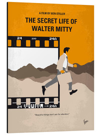 Alu-Dibond  No806 My The Secret Life of Walter Mitty minimal movie poster - chungkong