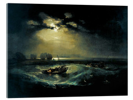 Acrylglas  Fischer auf See - Joseph Mallord William Turner