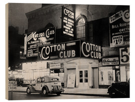 Holzbild  Cotton Club in Harlem, New York