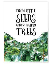 Premium-Poster  From little seeds grow mighty trees - RNDMS