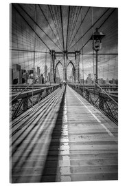Acrylglasbild  NEW YORK CITY Brooklyn Bridge - Melanie Viola