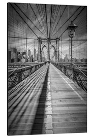 Alubild  NEW YORK CITY Brooklyn Bridge - Melanie Viola