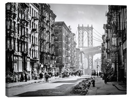 Leinwandbild  Historisches New York: Pike and Henry Streets, Manhattan - Christian Müringer