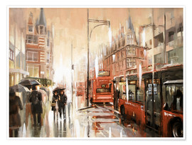 Johnny Morant - Oxford Street im Regen