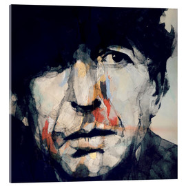 Acrylglas  Leonard Cohen   Hey That's No Way To Say Goodbye - Paul Paul Lovering Arts