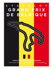 chungkong - My F1 FRANCORCHAMPS Race Track Minimal Poster