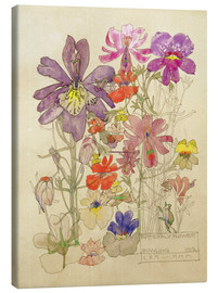Leinwandbild  Schmetterling Blume - Charles Rennie Mackintosh