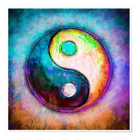 Premium-Poster Yin Yang - Colorful Painting 5