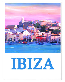 M. Bleichner - Retro Ibiza Old Town and Harbour Pearl Of the Mediterranean